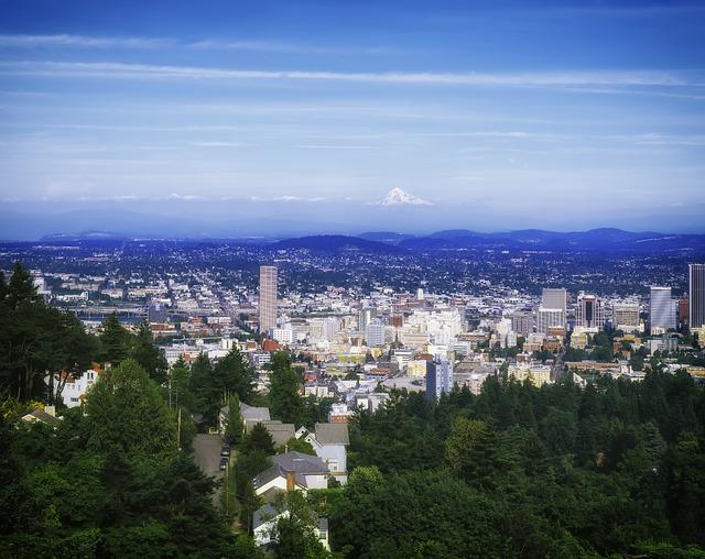 cityscape of portland