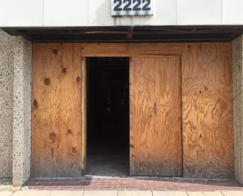 door before restoration