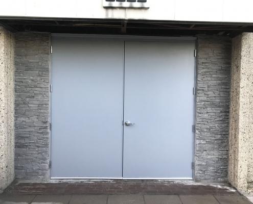 restored and weatherproofed door